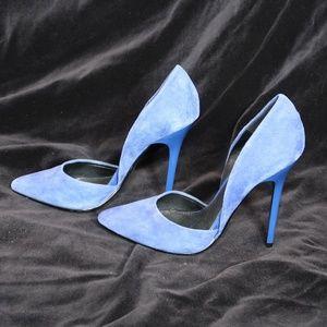 Steve Madden Blue Velour Stiletto Size 6M Heels